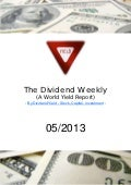 Dividend Weekly 05/2013 By http://long-term-investments.blogspot.com