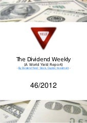 Dividend Weekly Report 46/2012 By h...