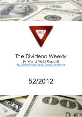 Dividend Weekly Stock52 2012 By Tha...