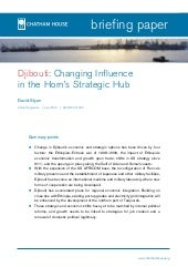 Djibouti  changing influence  Djibo...