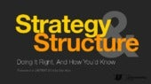 Strategy & Structure - Doing It Right, And How You'd Know