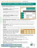 """How to Create a Cohesive Customer Experience"" Worksheet (by Denise Lee Yohn)"