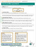 """How to Position Your Brand"" Worksheet (by Denise Lee Yohn)"