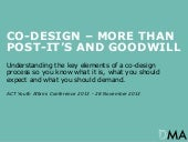Co-Design - more than post-its and goodwill
