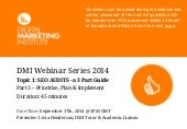 DMI Webinar Series - SEO Audits (Part 3 of 3)