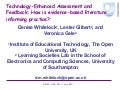 Technology-Enhanced Assessment and Feedback: How is evidence-based literature informing practice?