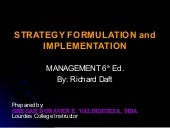 Strategy Formulation and Implementa...