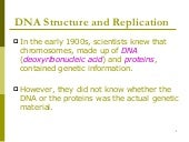 DNA strucutre and Replication