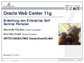 Enterprise Self-Service-Portale mit Oracle Web Center