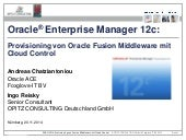 Middleware Provisionierung im Enterprise Manager Cloud Control