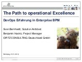 The path to operational excellence: DevOps-Erfahrung in Enterprise BPM
