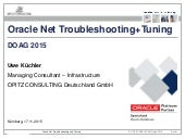 Oracle Net Troubleshooting + Tuning