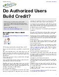 Do Authorized Users Build Credit?