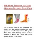 FIR Heat Therapy to Cure Obesity-Related Foot Pain