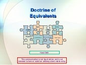 Doctrine Of Equivalence