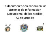 Documentación sonora