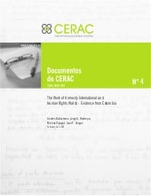 Documento CERAC No. 4: The Work of ...