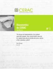 Documento CERAC No. 5: The design a...