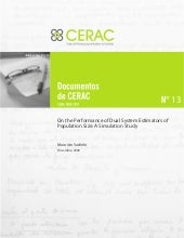 Documento CERAC No. 13: On the perf...