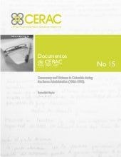 Documento CERAC No. 15: Democracy a...