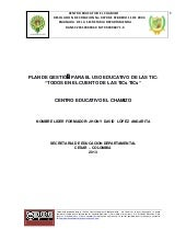 Documento plan de gestion para el u...
