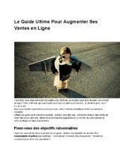Le Guide Ultime pour Booster ses Ve...