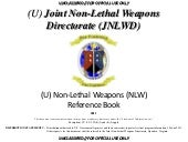 Non-Lethal Weapons Reference Book 2011