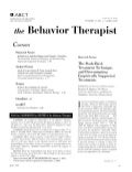 Behavior Therapist (April 2009)