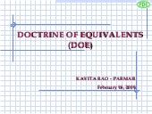 Doctrine of equivalents