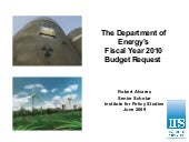 The Department of Energy's FY2010 B...