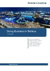 Doing Business In Belarus 2012 Rus