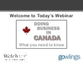 Doing Business in Canada - What you...