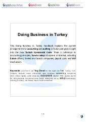 Doing business in Turkey Guide | 2011