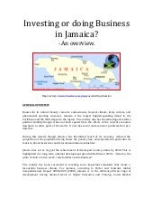 Doing business Jamaica Overview by ...