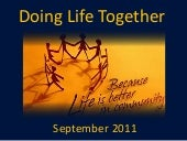 Doing life together   week 1 - sept...