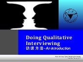 Doing Qualitative Interview (updated jan 2011)