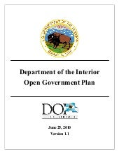 DOI Open Government Plan V1a