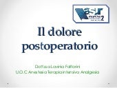 Dolore Post operatorio