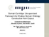 Domain Cartridge: Unsupervised Framework for Shallow Domain Ontology Construction from Corpus