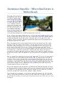 Dominican republic – where real estate is within reach