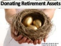 Donating retirement plan assets