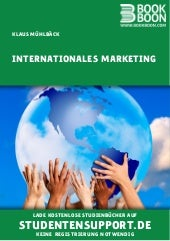 Input: Internationales Marketing