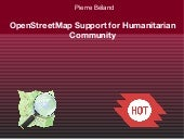 OpenStreetMap Support for Humanitar...