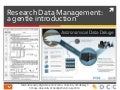 Research Data Management: a gentle introduction