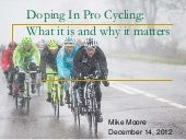 Doping in pro cycing