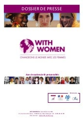 Presentation campagne With Women 2010
