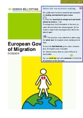 Dossier: European Governance of Mig...