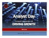 Analyst Day Presentation