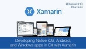 Dotnetconf - Introduction to Xamarin and Xamarin.Forms