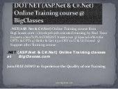 Dot net online training | . Net tra...